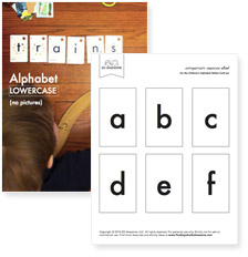 Lowercase Letters (no pictures), (pdf download)