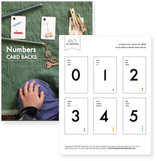 Backs of cards, 0 - 10, 100, 1000 (pdf)