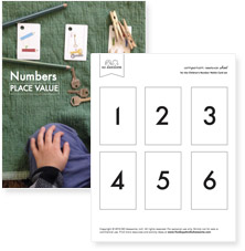 Place value, numbers 1 - 9, 10, 20, etc., 100, 200 etc, 1000, 2000 etc (pdf)