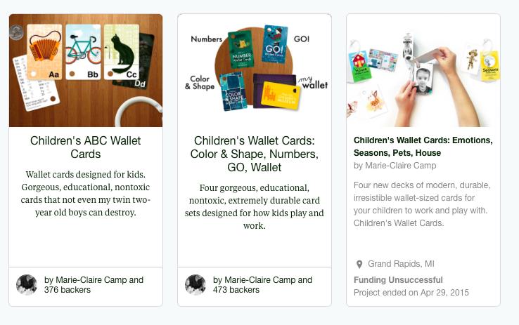 Our Kickstarter Campaigns