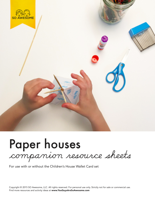 House Resources, Paper Houses Printable