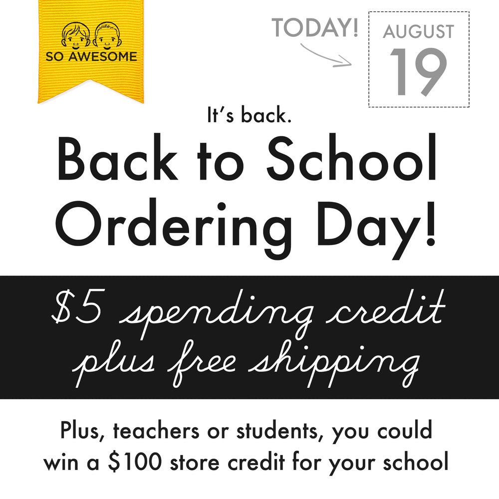 Back to School Ordering Day