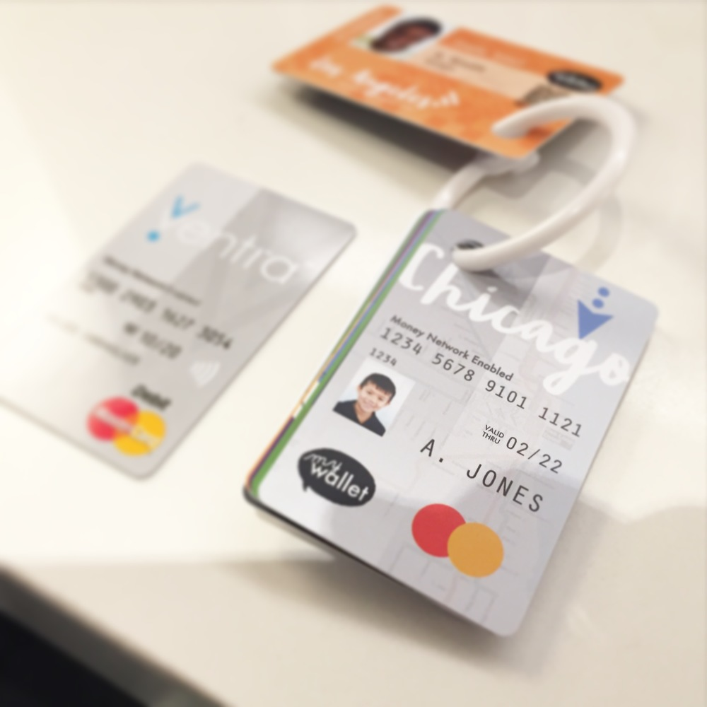 The CTA uses the Ventra card for CTA fair, here's SO Awesome's card in front, with a real Ventra card in the back for comparison.