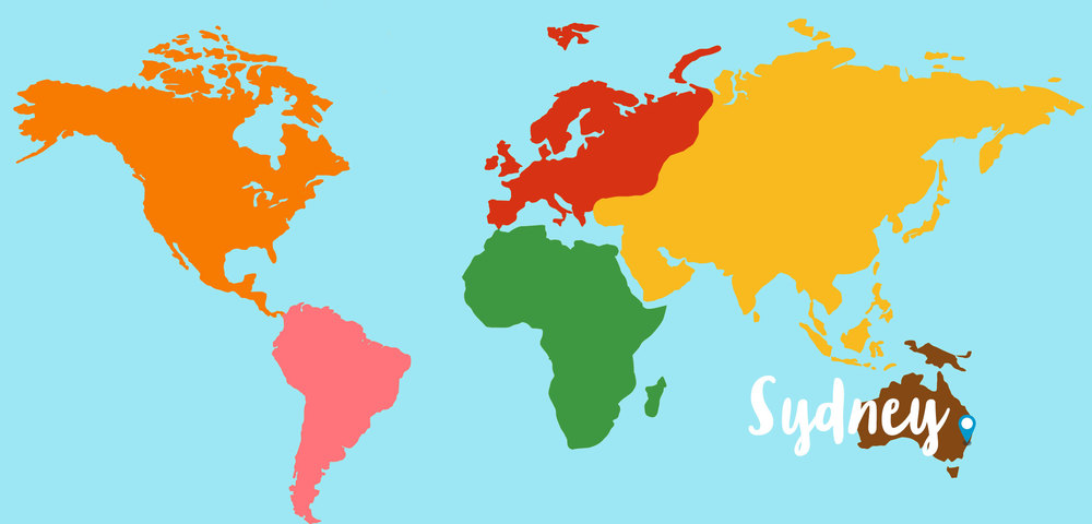 Sydney Australia On A World Map London Map - Sydney map world