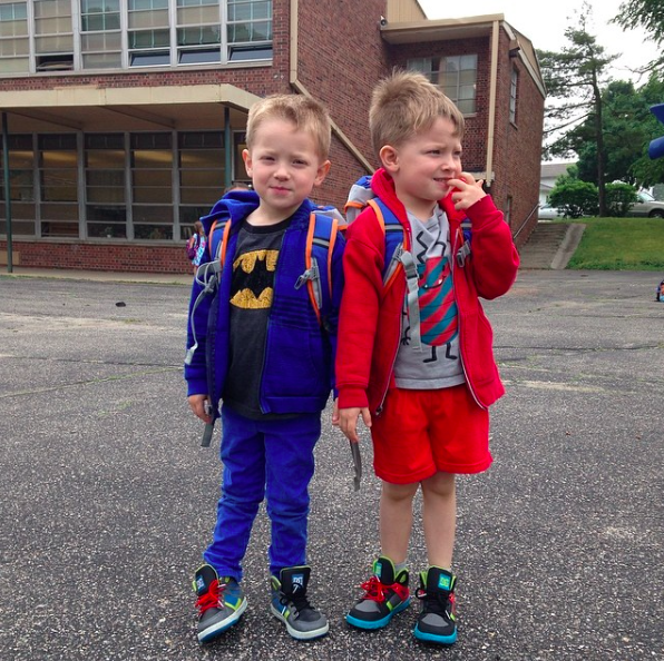 Owen and Silas Back to School