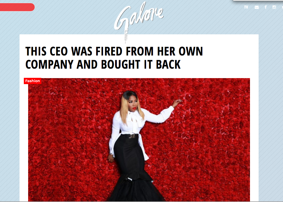 Mz. Skittlez Front Page of Galore Magazine - Find out how she got fired from her own company just to by it back!