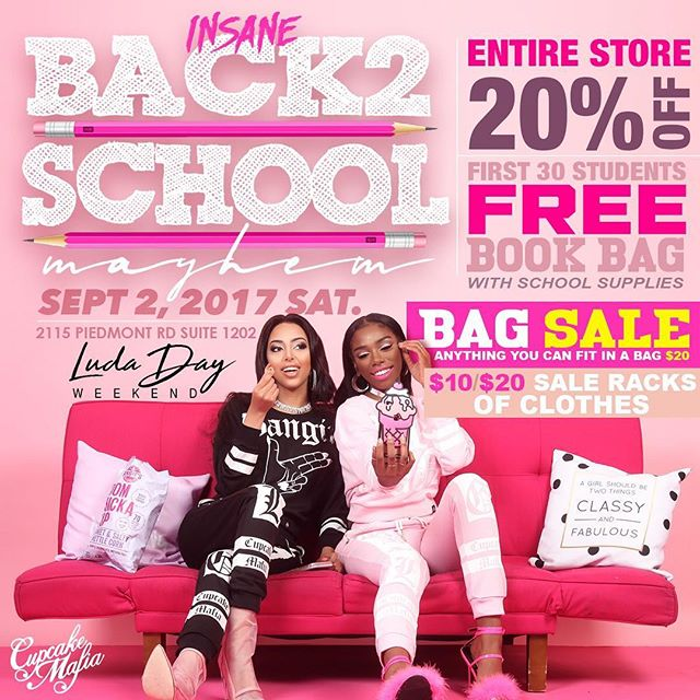 Listen don't message me about how you missed this!!! LITERALLY THE BIGGEST SALE EVER!! $5/$10/$20 racks and a $20 Grab bag all you can fir in the bag!!! 20% OFF THE WHOLE STORE.. Dad hats $7 and cell phone cases $5!!!! THE LINE STARTS AT 1pm!!!!! #atlanta #ludadayweekend #atl #labordayweekend #buckheadatlanta