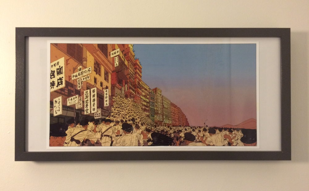 One of the prints from VanCAF, now comfortably hung in my office. Thought the art-style was pretty striking.