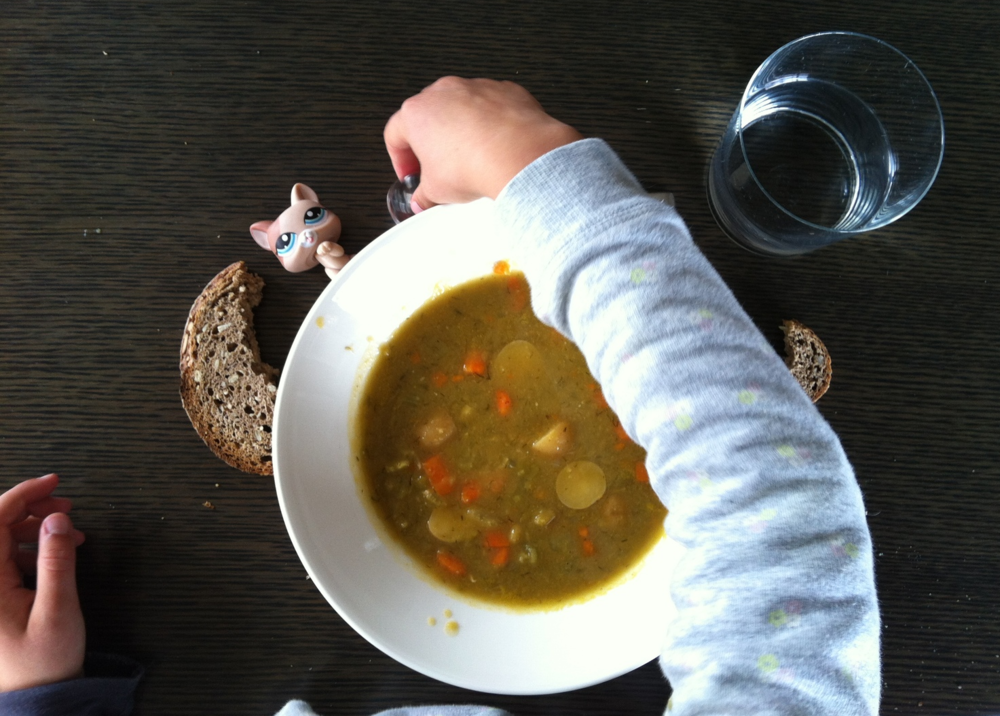 The initial attraction to any soup for Franka has always been the bread.