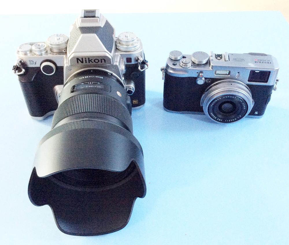 Nikon Df Sigma 50mm f/1.4 ART lens Fuji X100s