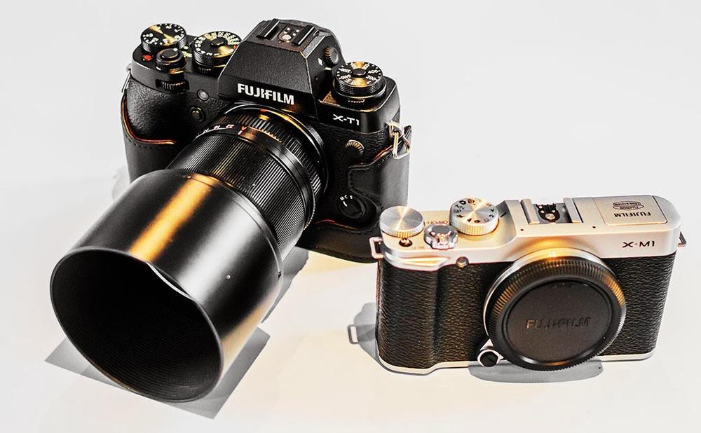 Fuji X-T1 and 60mm macro lens and Fuji X-M1