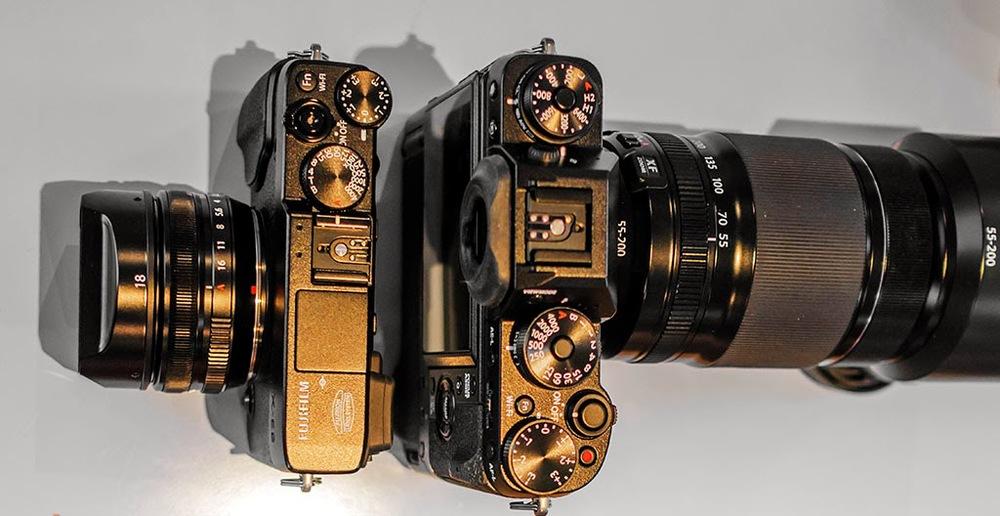 Fuji X-T1 55-200mm zoom Fuji X-e2 18mm f/2 lens