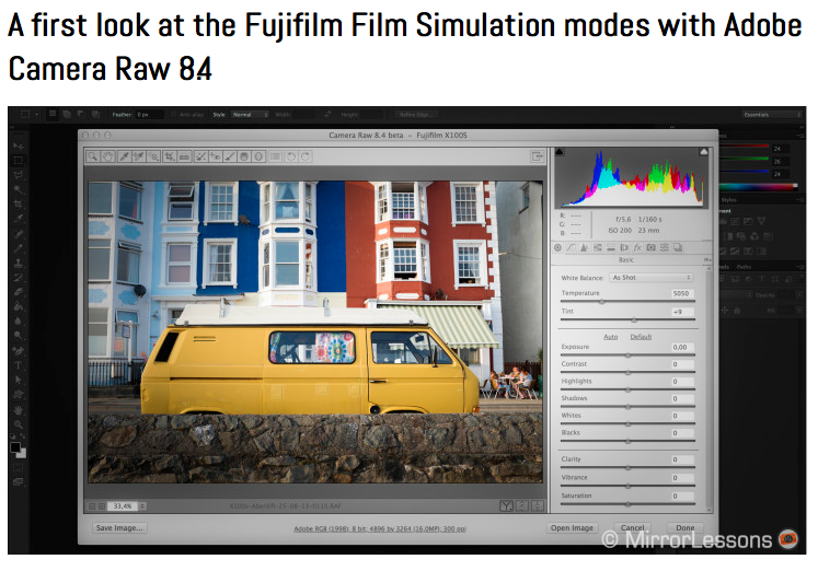http://www.bestmirrorlesscamerareviews.com/2014/02/25/a-first-look-at-the-fujifilm-film-simulation-modes-with-adobe-camera-raw-8-4/