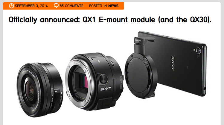 http://www.sonyalpharumors.com/officially-announced-qx1-e-mount-module-and-the-qx30/
