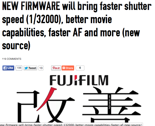 http://www.fujirumors.com/new-firmware-will-bring-faster-shutter-speed-132000-better-movie-capabilities-faster-af-new-source/