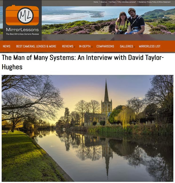 http://www.bestmirrorlesscamerareviews.com/2014/01/02/the-man-of-many-systems-an-interview-with-david-taylor-hughes/