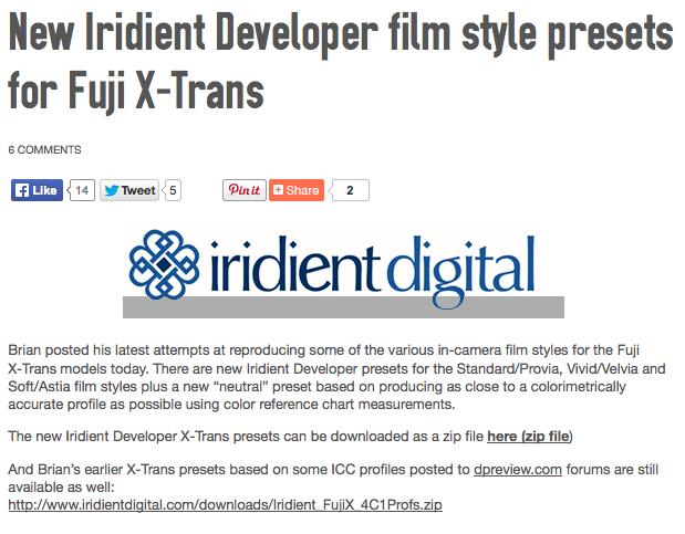http://www.fujirumors.com/new-iridient-developer-film-style-presets-fuji-x-trans/