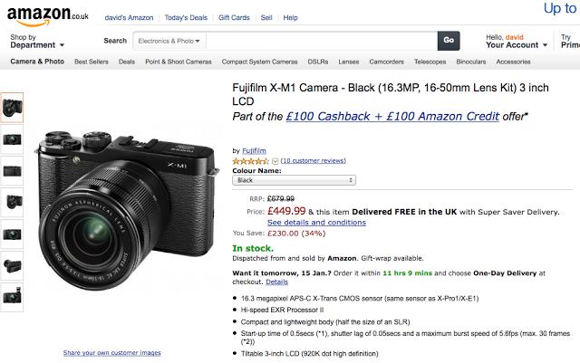 http://www.amazon.co.uk/Fujifilm-X-M1-Camera-16-3MP-16-50mm/dp/B00DM7X6HC/ref=br_lf_m_1000763393_1_1_ttl?ie=UTF8&m=A3P5ROKL5A1OLE&s=photo&pf_rd_p=455000407&pf_rd_s=center-2&pf_rd_t=1401&pf_rd_i=1000763393&pf_rd_m=A3P5ROKL5A1OLE&pf_rd_r=0FA24DR8A5PYHMG071ZG