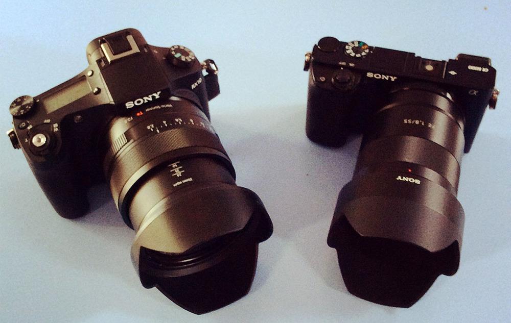 Sony Cyber-shot DSC-RX10 -Sony Alpha A6000Sony FE 55mm F1.8 ZA Carl Zeiss Sonnar T* Lens