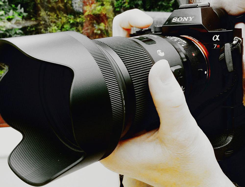 Sonyα7R E-mount Camera with Full Frame Sensor,Sigma 50mm f1.4 DG HSM A - Nikon Fit, Metabones Nikon F > Sony e-mount adapter