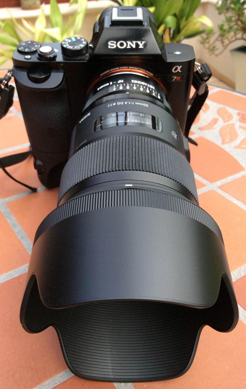 Sony  α7R E-mount Camera with Full Frame Sensor,  Sigma 50mm f1.4 DG HSM A - Nikon Fit, Metabones Nikon F > Sony e-mount adapter