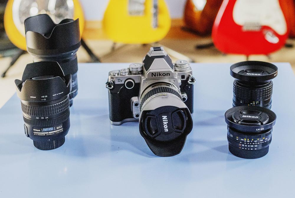Nikon Df,Sigma 35mm f/1.4 A DG HSM ART lens (Nikon fit),Nikon 28-200mm f/3.5-5.6 AF-G,Nikon 24-85mm AF-S G,Nikon 100mm f/2.8Series E,Voigtländer 20mm f/3.5SL-II Aspherical.