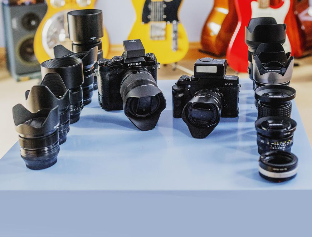 Fuji X-E2. Fuji X-T1,Fujifilm XF 55-200mm f/3.5-4.8 R LM OIS Fujinon Lens,Fujifilm XF 10-24mm f/4 R OIS Fujinon Lens,FUJINON LENS XF18-55mmF2.8-4 R LM OIS,FUJINON XF14mm F2.8,Fujifilm XF 23mm f/1.4 R Fujinon Lens,FUJIFILM XF 56MM F/1.2 R,Fuji 18-135mm f3.5-5.6 WR LM R OIS Fujinon Lens,Fujifilm EF-X20 Flashgun.