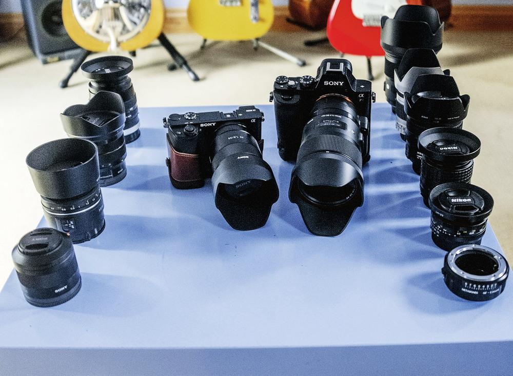 Sony a6000, Sony A7r,Sony 10-18mm f/4 OSS Lens,Sony 55mm f/1.8 Sonnar T* FE ZA Lens,Sony FE 35mm F2.8 ZA Carl Zeiss Sonnar T*,Sony 85mm f2.8 SAM Lens,Sigma 35mm f/1.4 A DG HSM A Lens(Sony a-mount fit) Voigtlander APO-LANTHER 90mm F3.5 SL II,Sony LA-EA4 a-mount to e-mount adapter