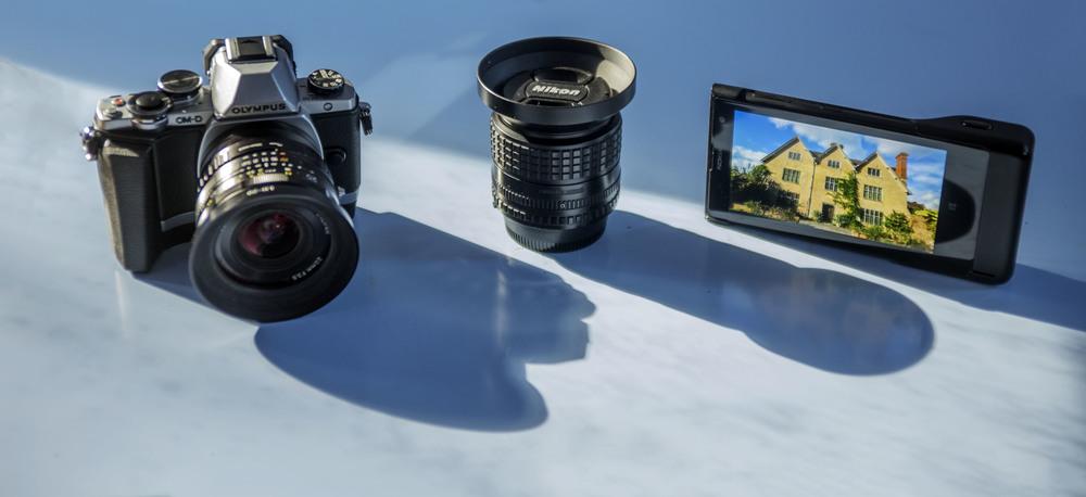 Olympus OM-D E-M10, Voigtlander 20mm f3.5 Color Skopar SL II Lens - Nikon Fit, Nikon 100mm f/2.8 Series E  Nokia Lumia 1020 Smartphone