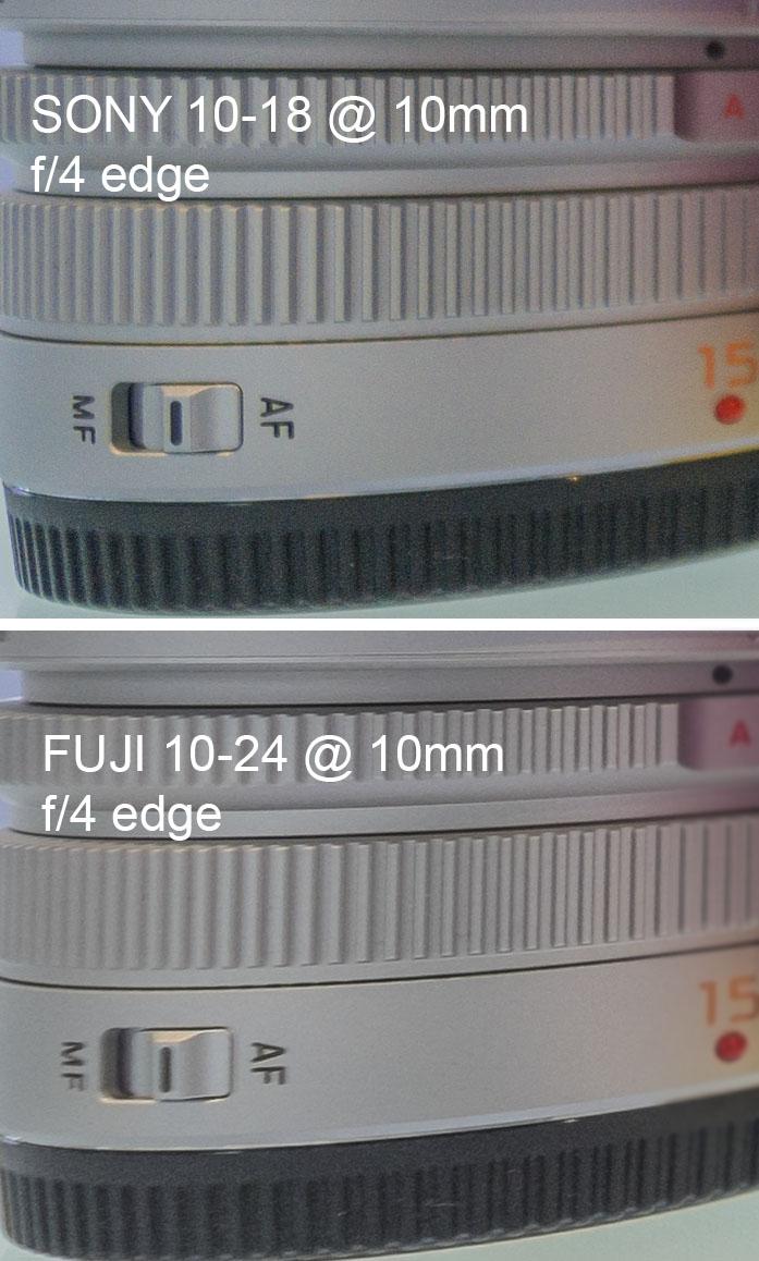 Fuji Fujinon XF 10-24mm f/4 R OIS Lens Sony E10-18mm f4 OSS Lens