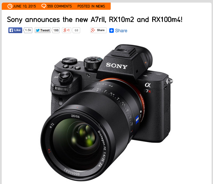 http://www.sonyalpharumors.com/sony-announces-the-new-a7rii-rx10m2-and-rx100m4/