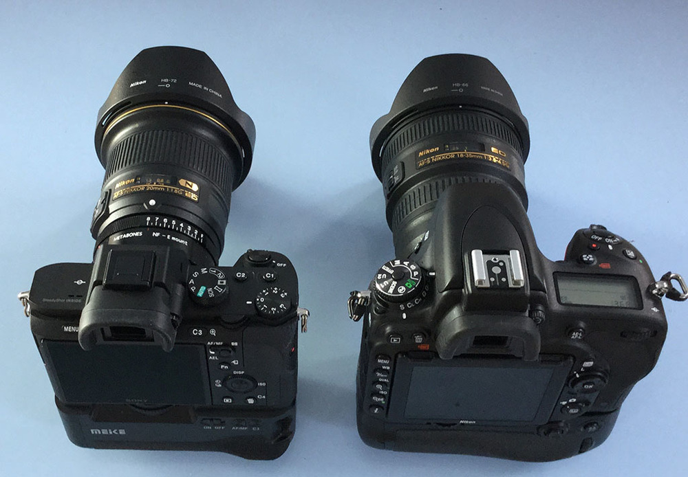 Sony A7 II compared to Nikon D750 and more on the