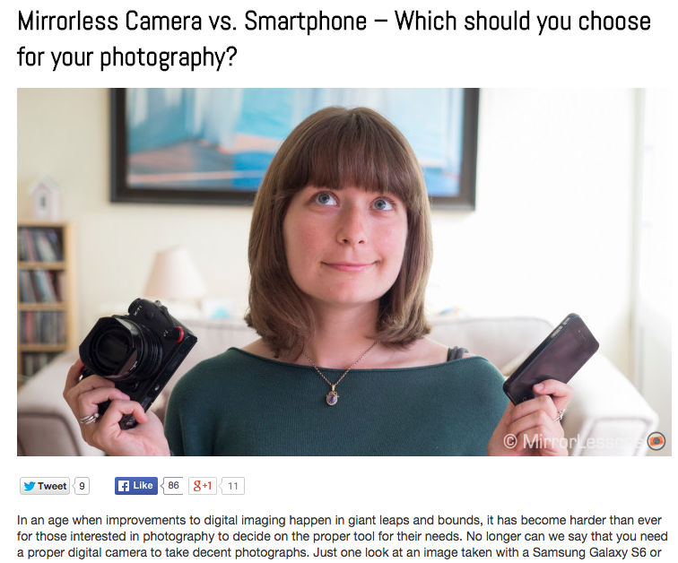 http://www.mirrorlessons.com/2015/08/10/mirrorless-camera-vs-smartphone-which-should-you-choose/
