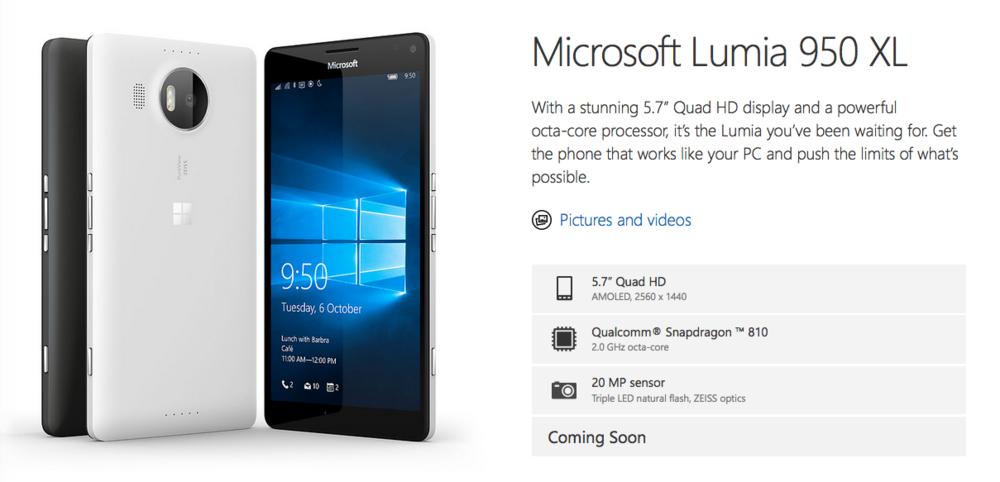 http://www.microsoft.com/en-gb/mobile/phone/lumia950-xl/