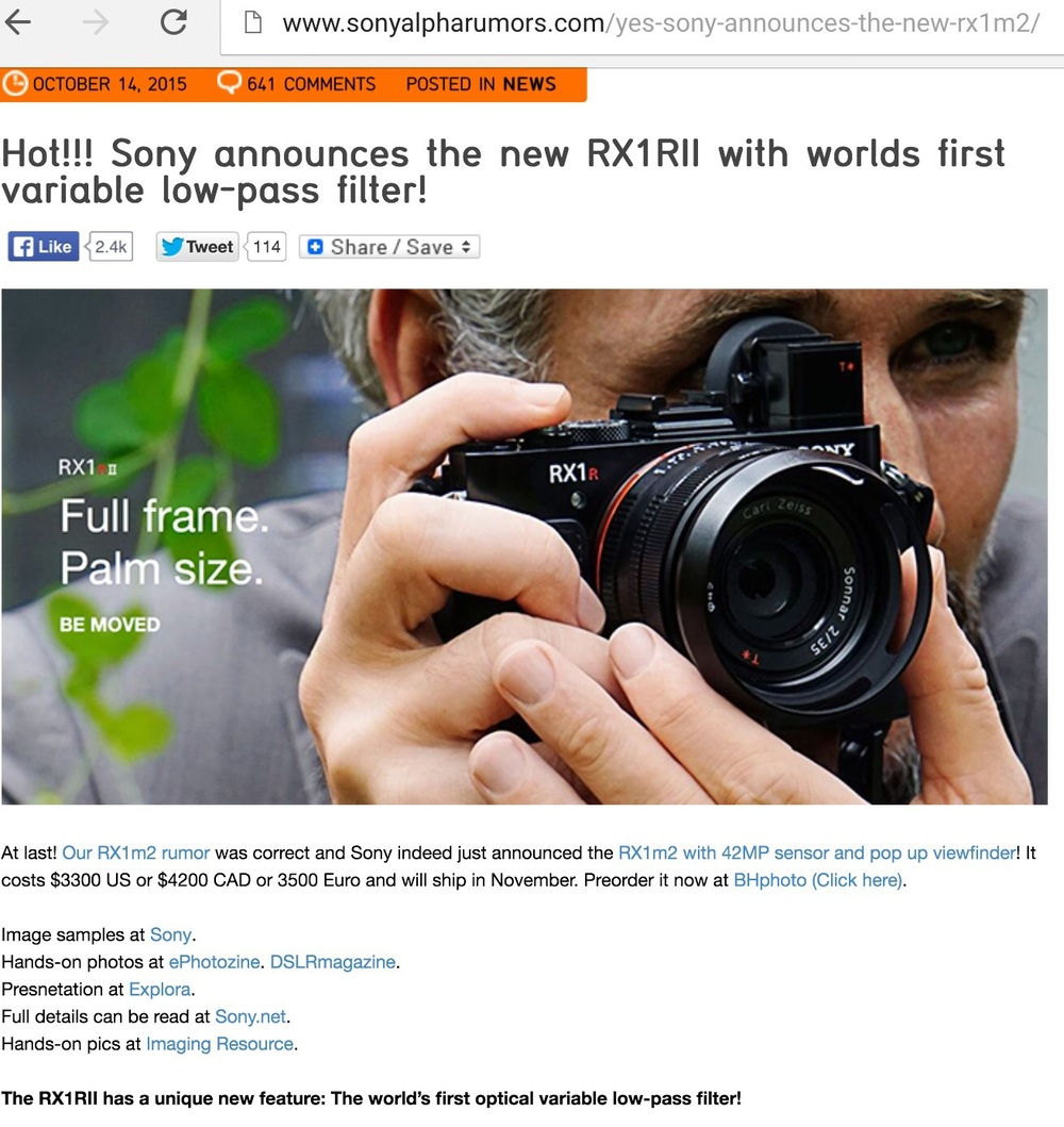 http://www.sonyalpharumors.com/yes-sony-announces-the-new-rx1m2/