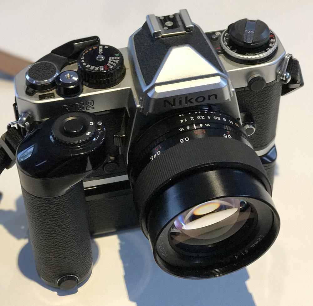 Nikon fe2 film camera simplicity digital camera for Camera camera camera