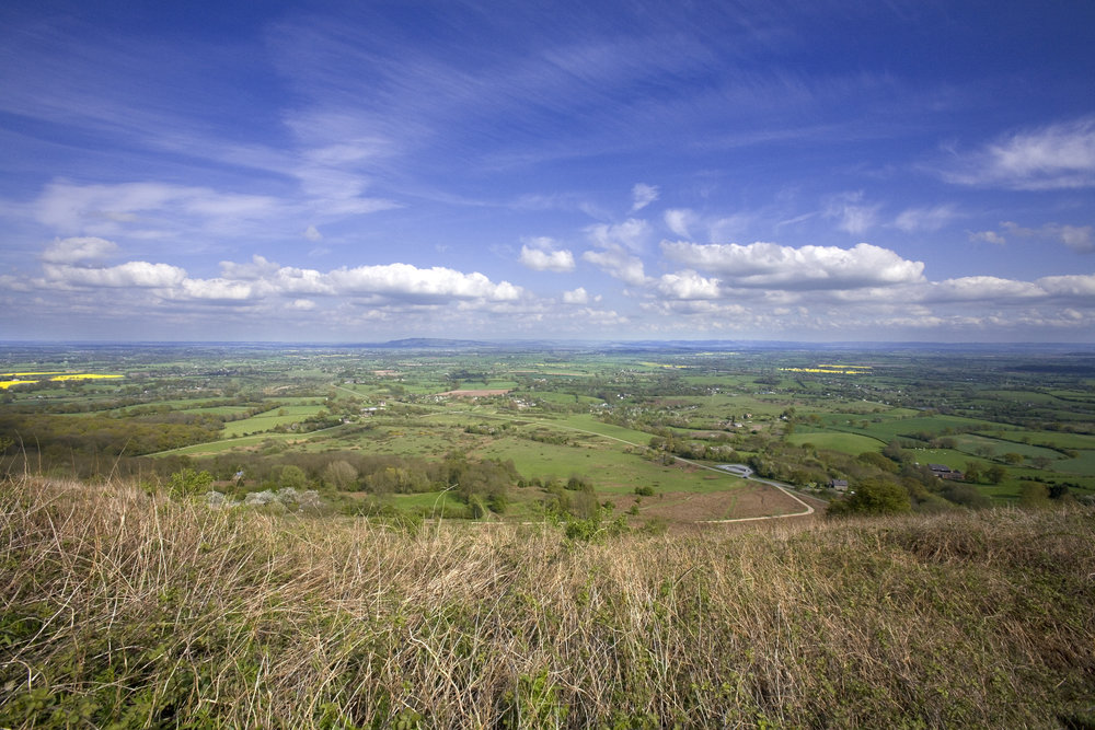 Views from the main ridge of the South Malverns Swinyard hill on