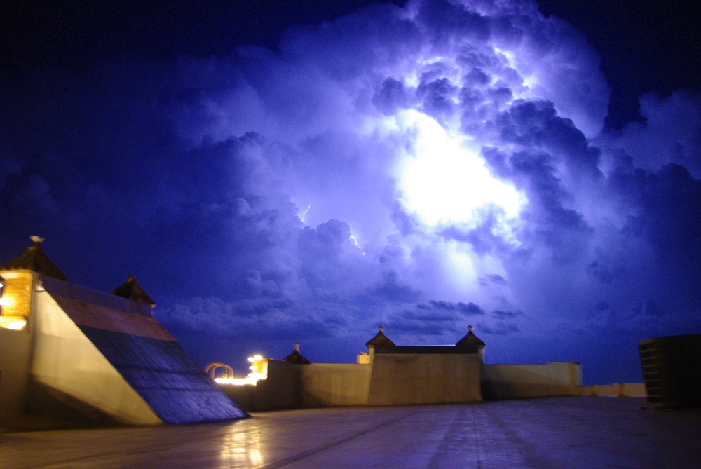 Edmund Eva captured a recent lightning storm from the 100W rooftop