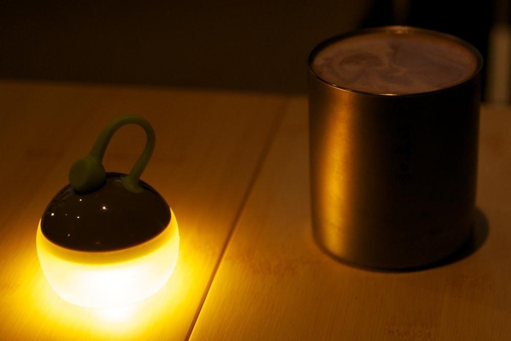 Glowing under the warm light of the Mini Hozuki.