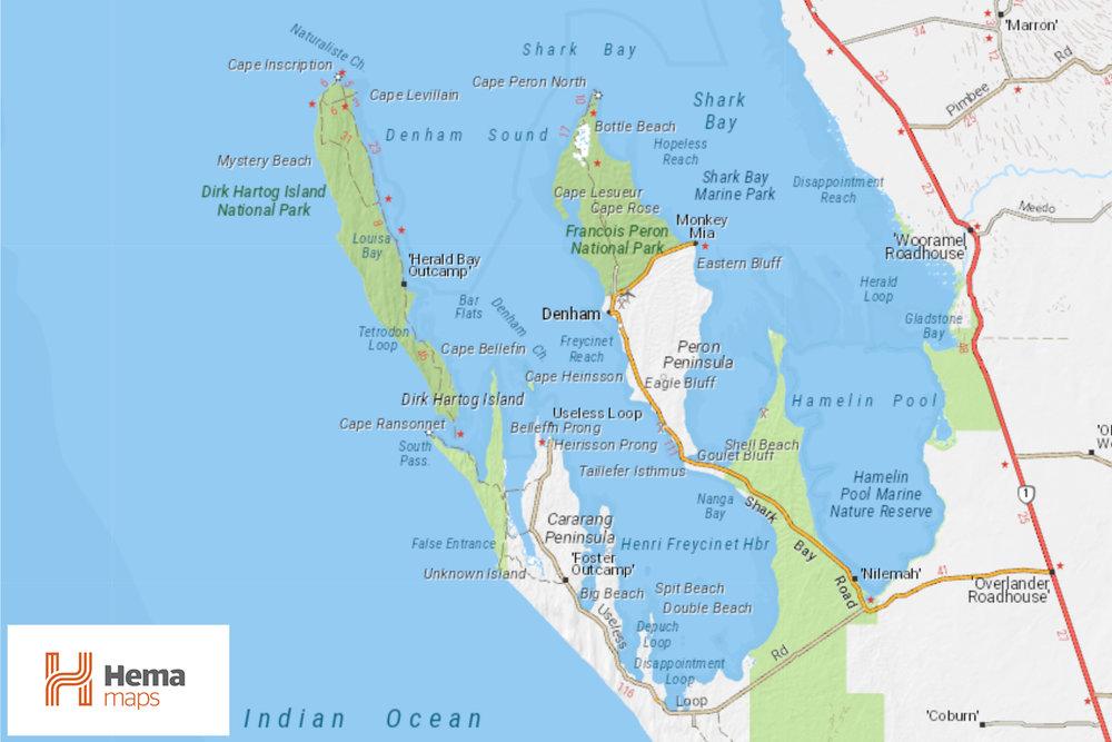 Hema Maps - Dirk Hartog Island