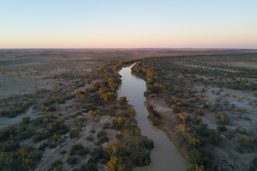 Cooper Creek, Aerial Image, Outback South Australia