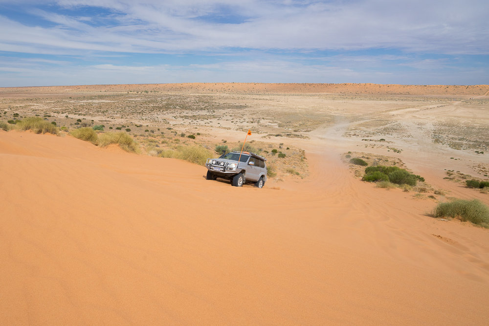 Big Red Sand Dune, Birdsville, Outback Queensland, Australia - 4WD, 4x4