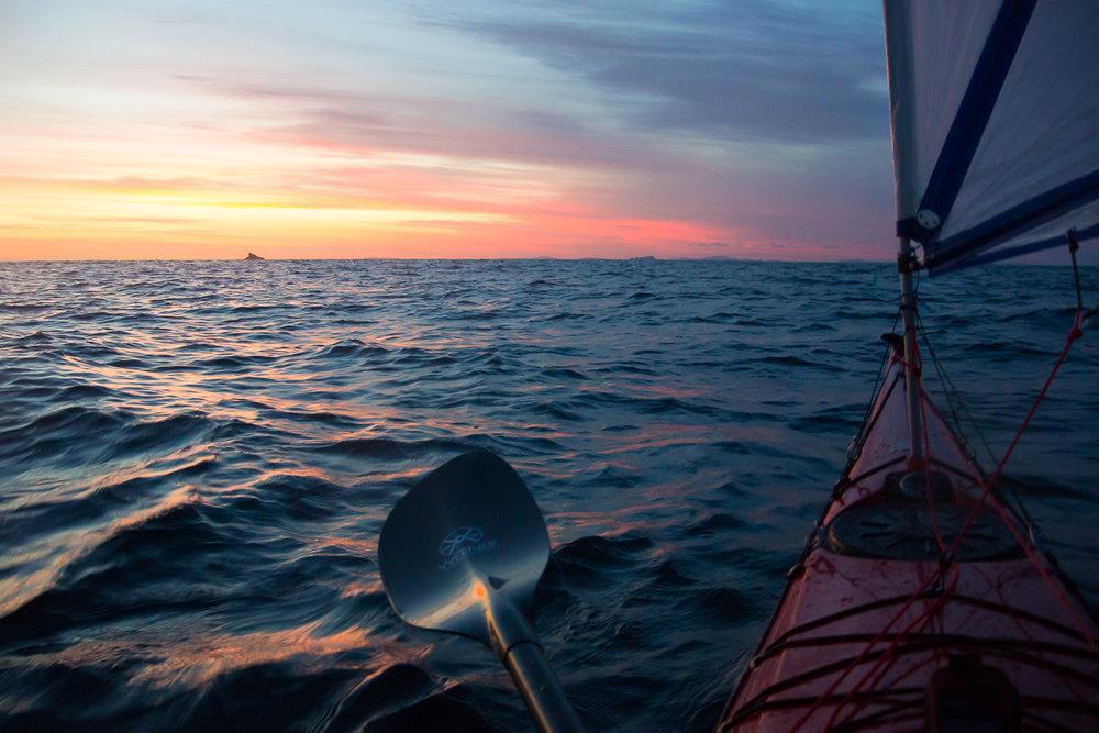 Sea kayak, Bass Strait, Australia