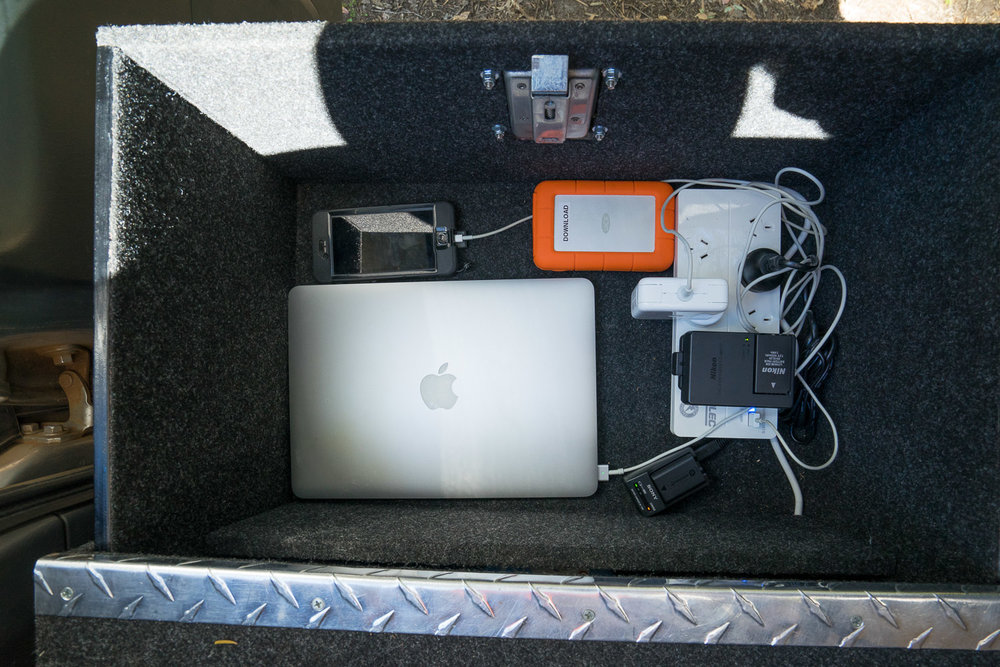 REDARC Inverter, Solar Blanket, Charging Laptops and Cameras