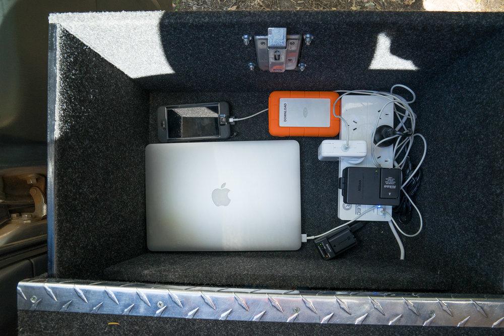 REDARC Inverter, Solar Blanket, Charging Laptops and Cameras