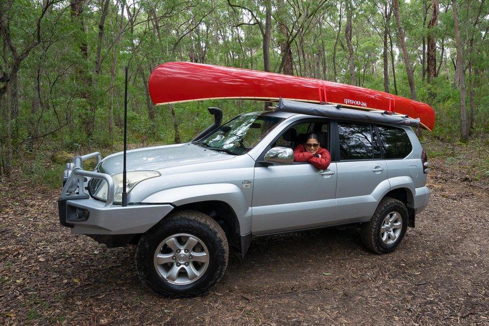 ARB Awning, Wenonah Canoe, Toyota Landcriuser Prado