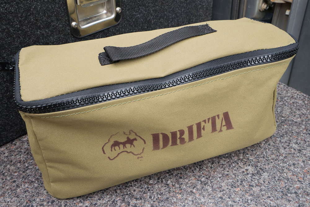 DRIFTA Canvas Bags, Australian Canvas, Australian Made, YKK Zips, 4x4, Camping, Organisation