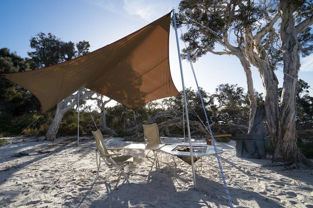 Snow Peak Hexa Tarp, Drifta 4WD and Camping, 4x4, Gear Reviews
