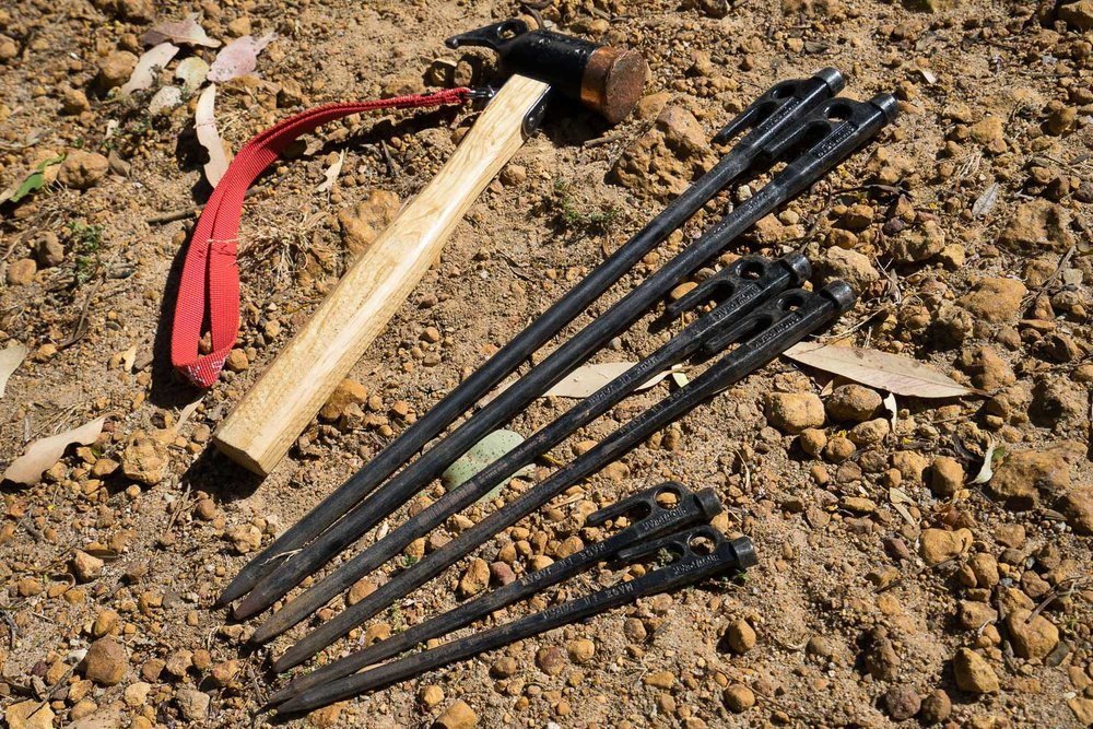 Snow Peak Hammer and Pegs, Stakes, Camping, Camp, DRIFTA