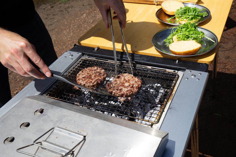 Charcoal BBQ Burgers